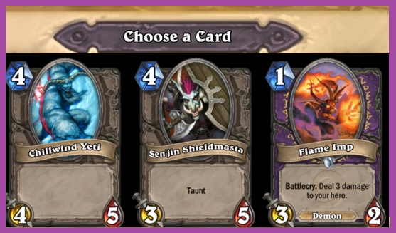 choose a card