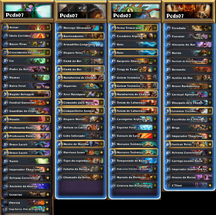 decklists pcsd07 summer