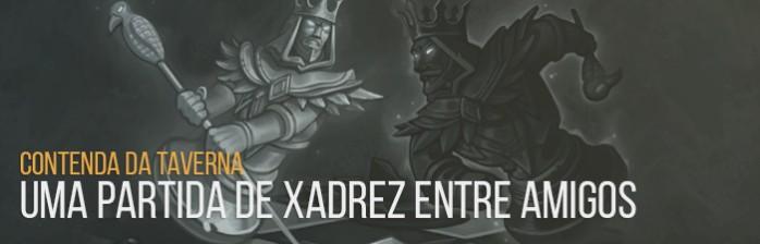 Contenda da Taverna: Uma Partida de Xadrez entre Amigos