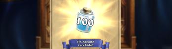 [Recompensas de login Diário] 31 de Março: 100 de pó arcano
